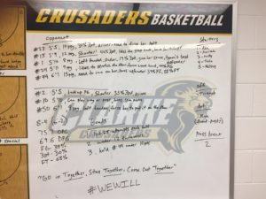 Clarke University Women's Basketball Pregame Routine 3